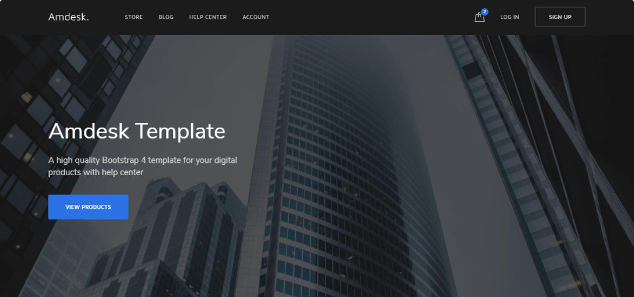 Amdesk - HelpDesk and Knowledge Base HTML template - nK